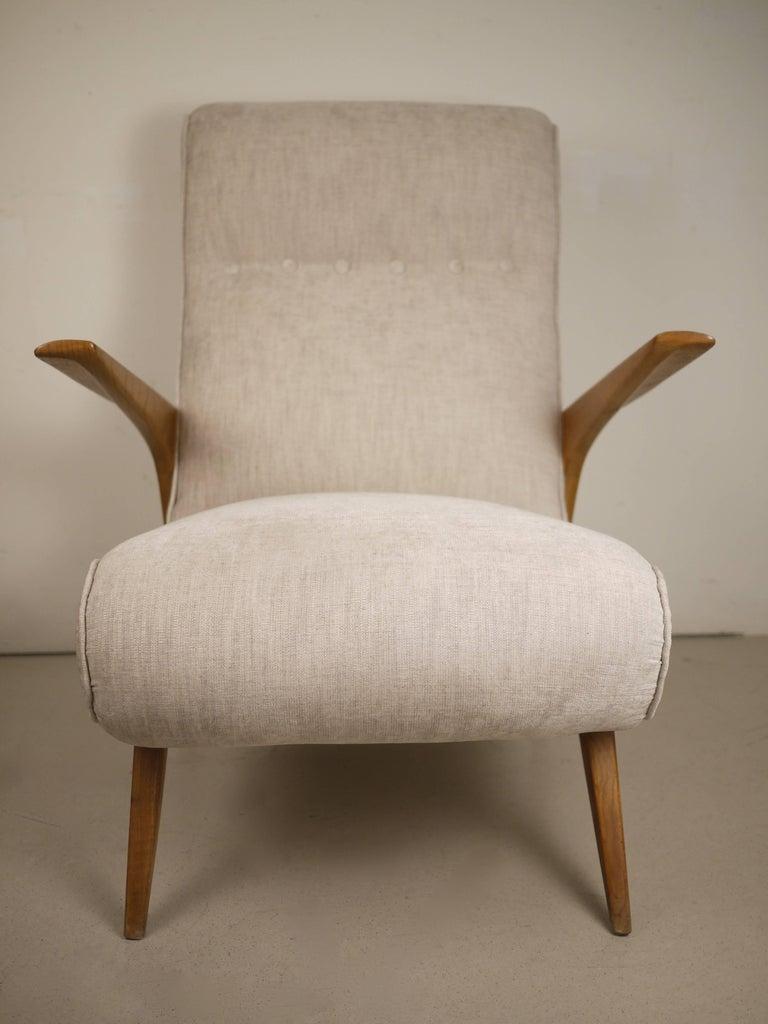Pair of Italian Midcentury Armchairs, 1950 For Sale 2
