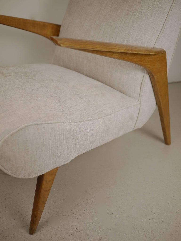 Pair of Italian Midcentury Armchairs, 1950 For Sale 4