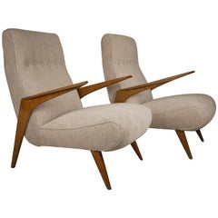 Pair of Italian Midcentury Armchairs, 1950