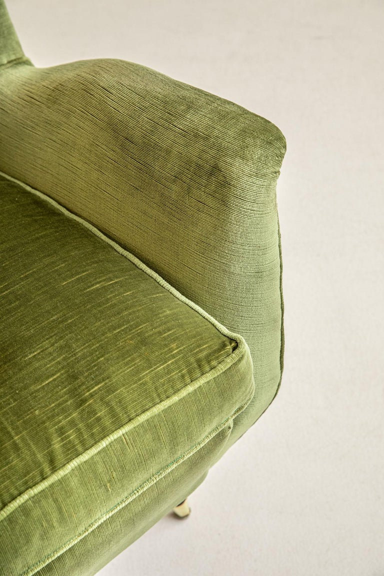 Mid-20th Century Pair of Italian Midcentury Armchairs by Isa For Sale