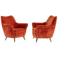 Pair of Italian Midcentury Armchairs by Isa
