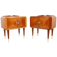 Pair of Italian Midcentury Bedside Cabinets