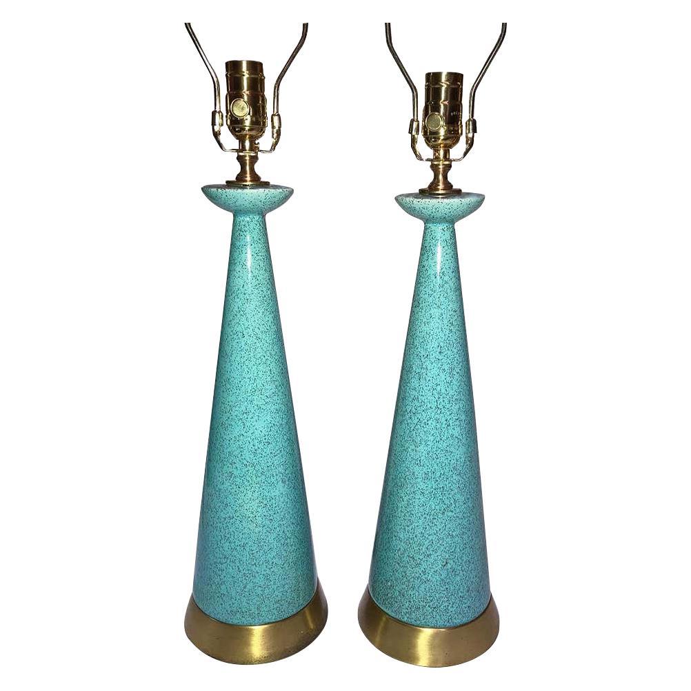 Pair of Italian Midcentury Ceramic Table Lamps