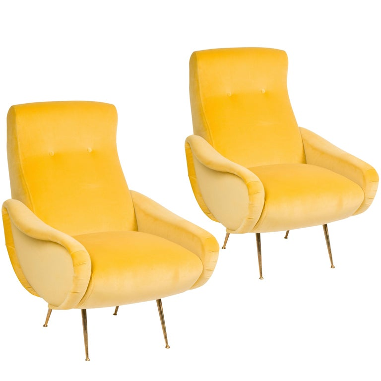 Pair of Italian Midcentury Chairs in the Style of Marco Zanuso