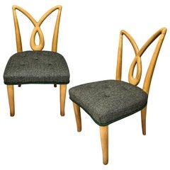 Pair of Italian Midcentury Hall Chairs