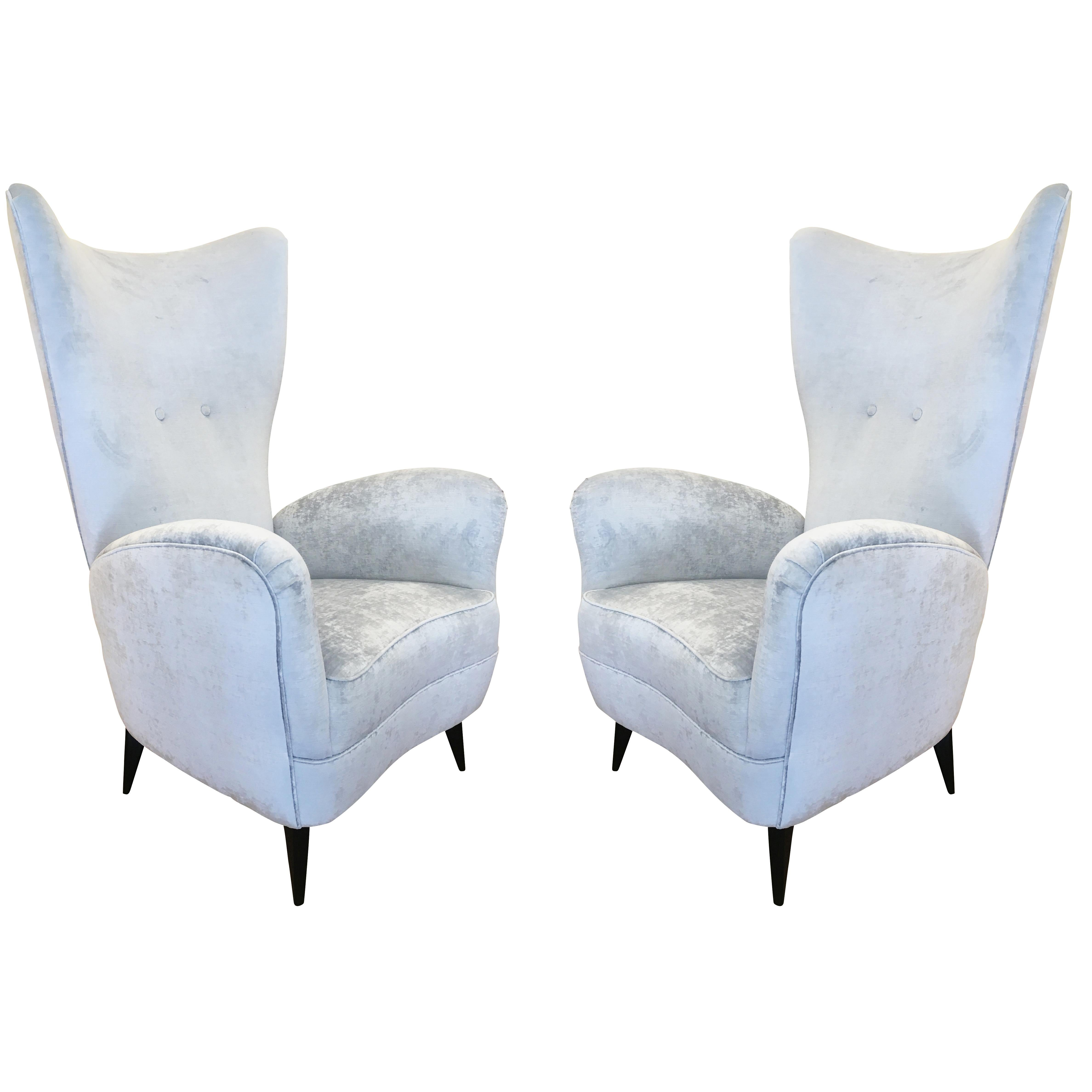 Pair of Italian Midcentury Lounge Chairs