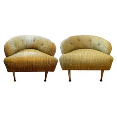 Pair of Italian Midcentury Lounge Chairs Inspired by Gio Ponti