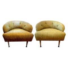 Pair of Italian Lounge Chairs Inspired by Gio Ponti