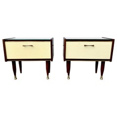 Pair of Italian Midcentury Parisi Style Nightstands