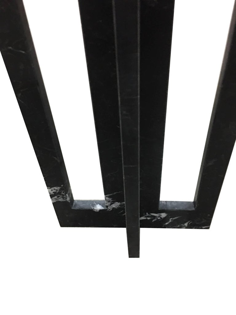Contemporary Pair of Italian Modern Black Marble Side Tables by Massimo Mangiardi For Sale
