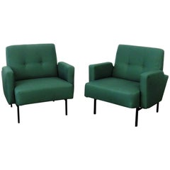 Pair of Italian Modern Club Chairs