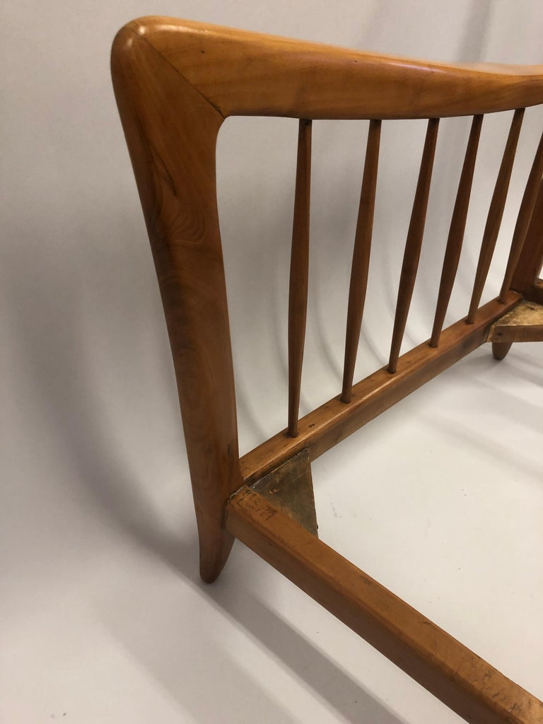 Pair of Italian Modern Neoclassical Cherrywood Armchairs by Paolo Buffa For Sale 2