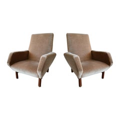 Pair of Italian Modern Prototype Chairs, 1960s, Gianfranco Frattini