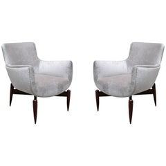 Pair of Italian Modernist Armchairs