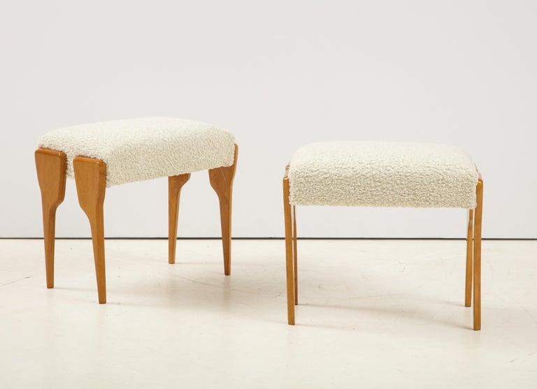 Mid-Century Modern Pair of Italian Modernist Stools For Sale