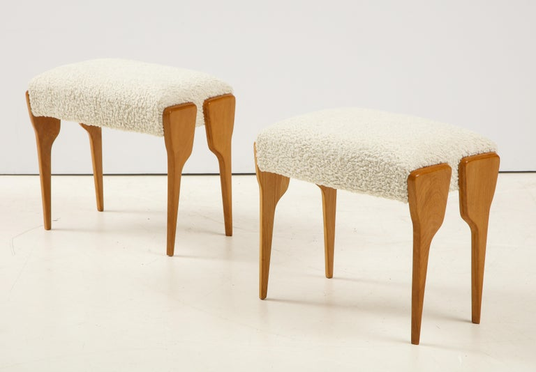 Pair of Italian Modernist Stools For Sale 1