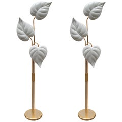 Pair of Italian Modernist Three-Light Floor Lamps
