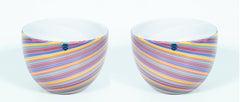 Pair of Italian Murano Glass Bowls Cenedese 1970s
