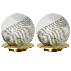 Pair of Swirl Lamps by Venini