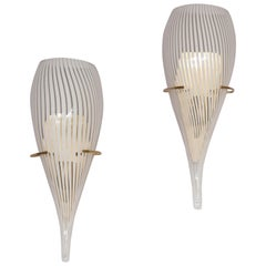 Pair of Italian Murano Glass Wall Sconces