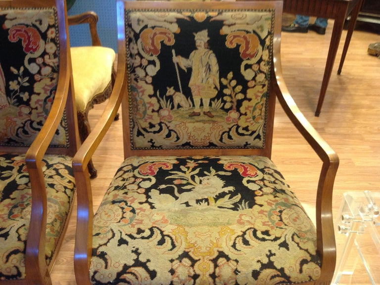 Pair of Italian Neoclassic Armchairs For Sale 3