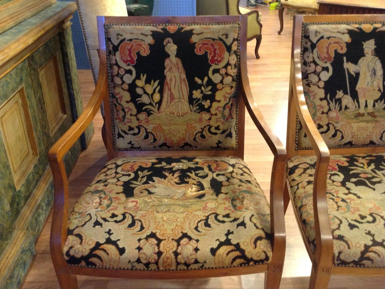 Pair of Italian Neoclassic Armchairs For Sale 2