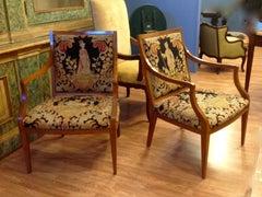 Pair of Italian Neoclassic Armchairs