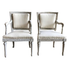 Pair of Italian Neoclassic Armchairs, 18th Century