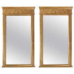 Pair of Italian Neoclassic Gilt Mirrors
