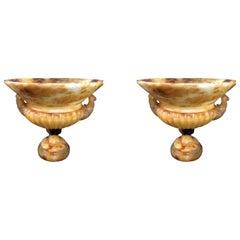 Pair of Italian Neoclassic Onyx Urns, 19th Century