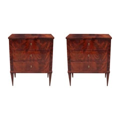 Pair of Italian Neoclassical Bedside Chests