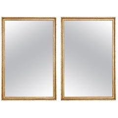 Pair of Italian Neoclassical Giltwood Wall Mirrors