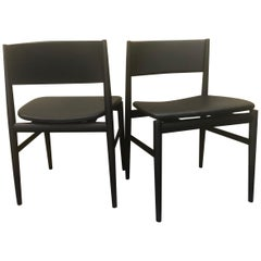 "Pair of Italian ""Neve"" Armchairs in Black Ash by Piero Lissoni for Porro"