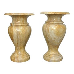 Pair of Italian Onyx Urns