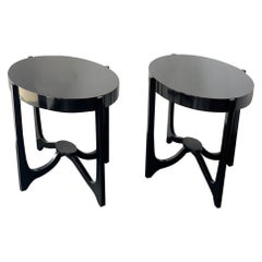 Pair of Italian Oval Side Tables