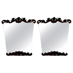 Pair of Italian Painted and Giltwood Mirrors-Serge Roche Inspired