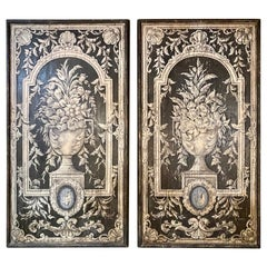 Pair of Italian Painted Wooden Painted Panels