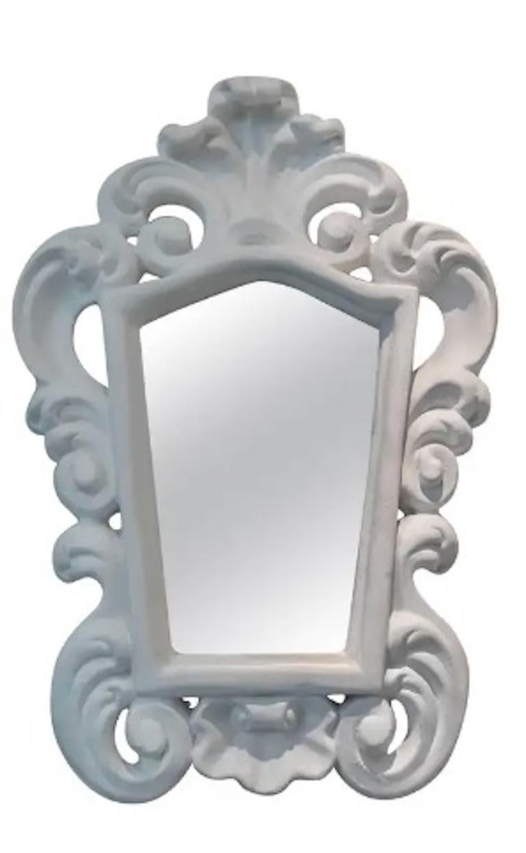 Pair of Italian Plaster Mirrors In Excellent Condition In Boston, MA