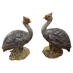 Pair of Italian Porcelain Pheasant Figures
