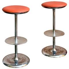 Pair of Italian Postmodern Bar Stools