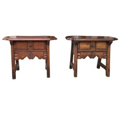 Pair of Italian Provincial Side Tables, circa 1950s