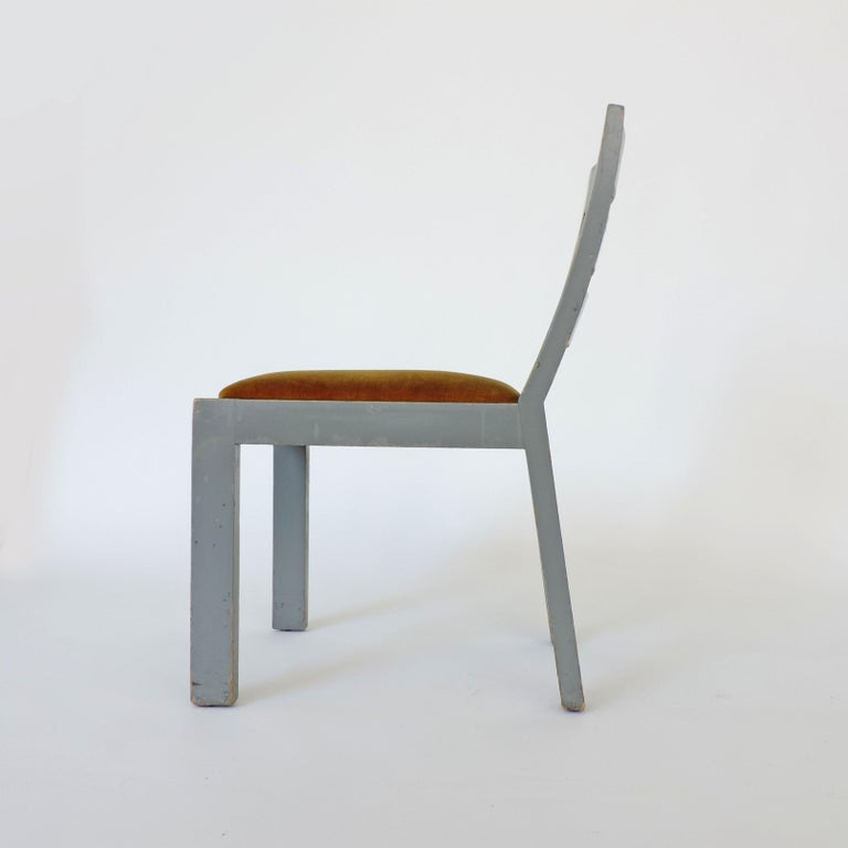Pair of Italian Rationalist Movement Chairs, Italy, 1930s In Good Condition For Sale In Milan, IT