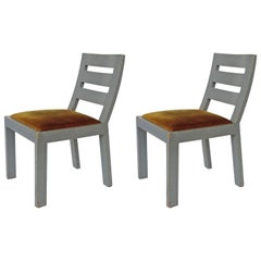 Pair of Italian Rationalist Movement Chairs, Italy, 1930s