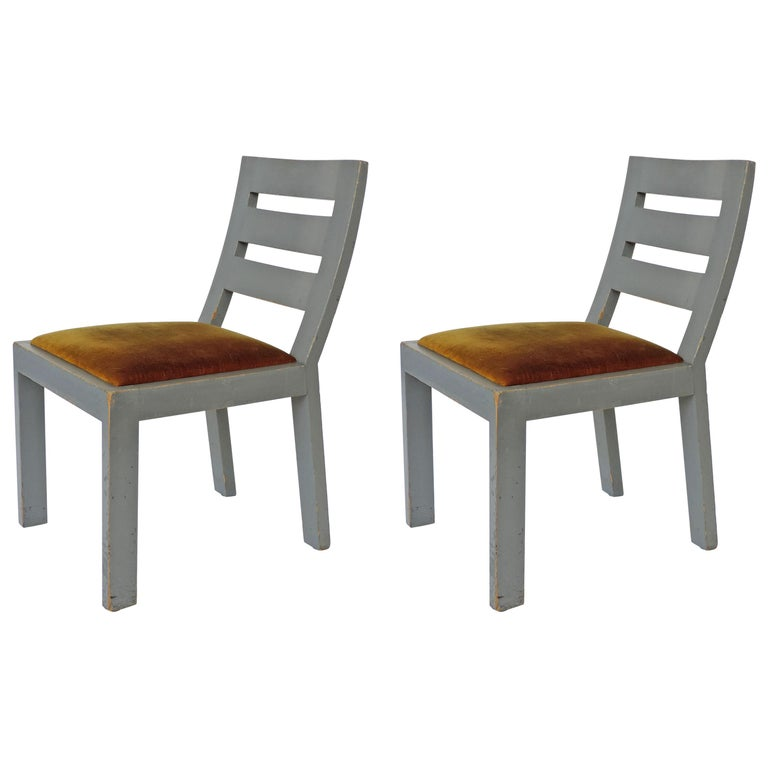 Pair of Italian Rationalist Movement Chairs, Italy, 1930s For Sale