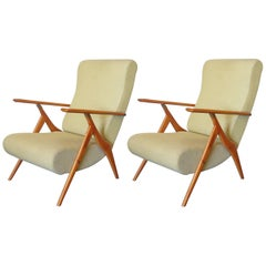 Pair of Italian Recliners by Antonio Gorgone