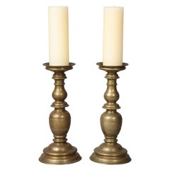 Pair of Italian Renaissance Bronze Candlesticks