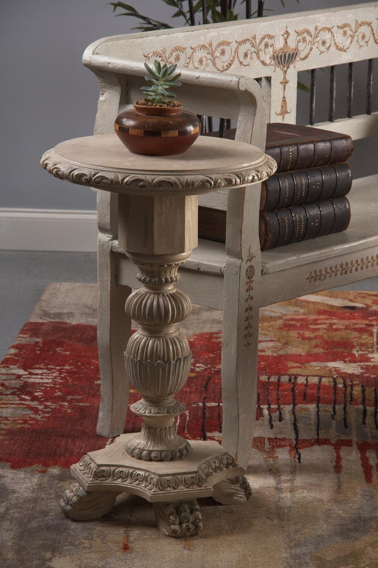Pair of Italian Renaissance Revival Painted Side Tables, 1950s For Sale 11