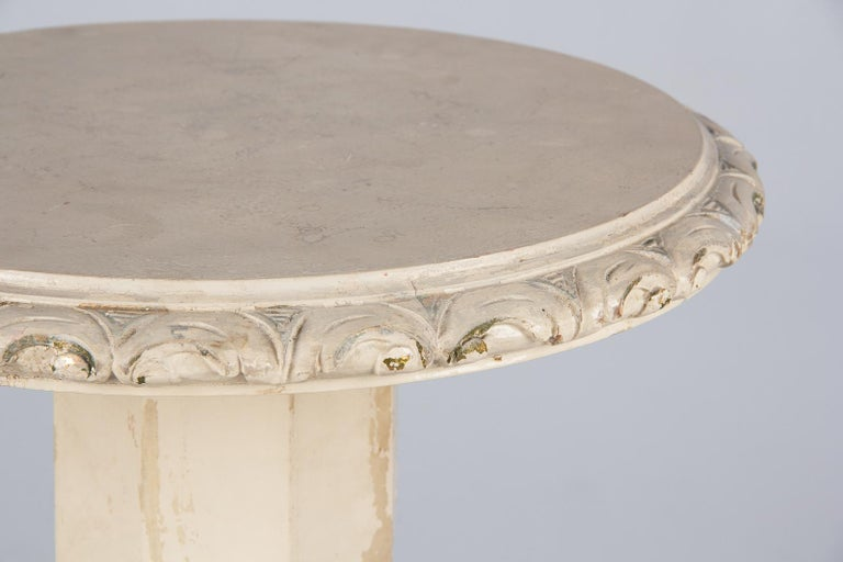 Pair of Italian Renaissance Revival Painted Side Tables, 1950s For Sale 3