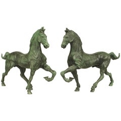 Pair of Italian Renaissance Style Figure of Horses