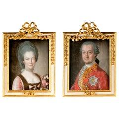 Pair of Italian Rococo Portraits Joseph De Saint Michel, 1769